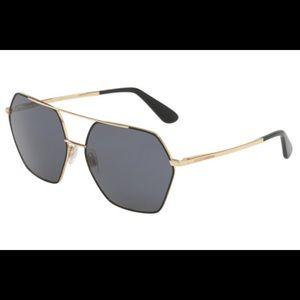 Dolce & Gabbana Sunglasses w/ Hexagon Lenses